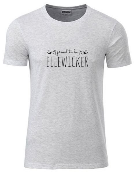 Proud to be Ellewicker | T-Shirt JUNGE | ASH HEATHER (hellgrau)