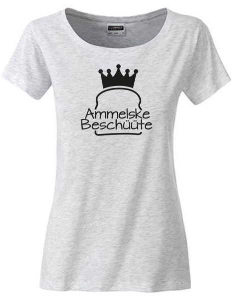 Ammelske Beschüüte | T-Shirt DEERNE | ASH HEATHER (schwarzgrau)