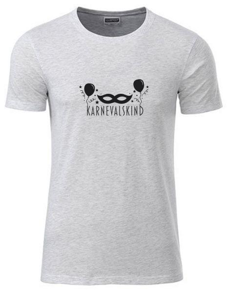 Karnevalskind | T-Shirt JUNGE | ASH HEATHER (hellgrau)