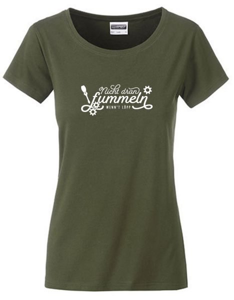 Nicht dran fummeln wenn't löpp | T-Shirt DEERN | OLIVE GREEN (olivgrün)