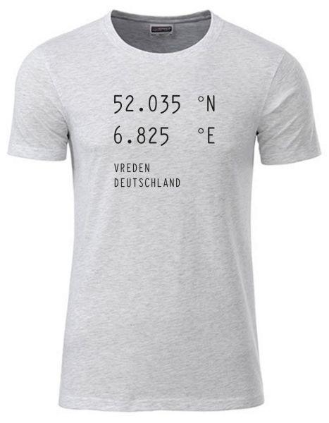 Breiten- u. Längengrad | T-Shirt JUNGE | ASH HEATHER (hellgrau)