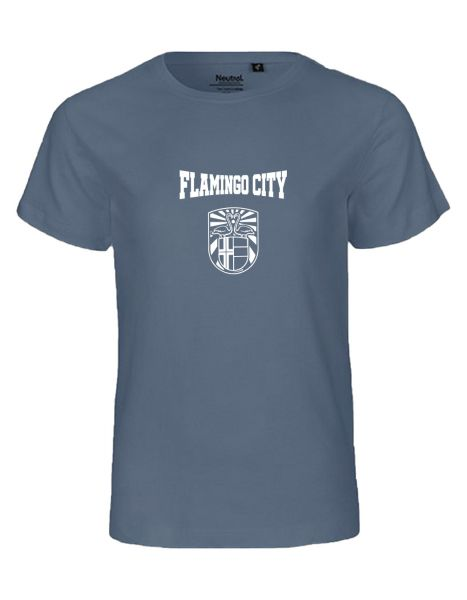 Flamingo City | T-Shirt KINDER | DUSTY INDIGO (blaugrau)