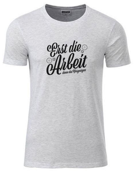 Erst die Arbeit dann das Vergnügen | T-Shirt JUNGE | ASH HEATHER (hellgrau)
