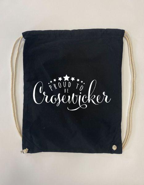 Proud to be Crosewicker | Baumwoll Rucksack | Sportsack