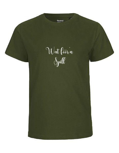 Wat föör'n Spill | T-Shirt KINDER | MILITARY (olive)