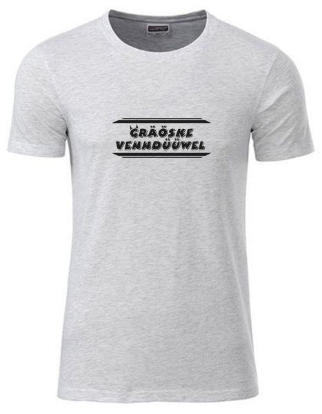 Gräöske Venndüüwel | T-Shirt JUNGE | ASH HEATHER (hellgrau)