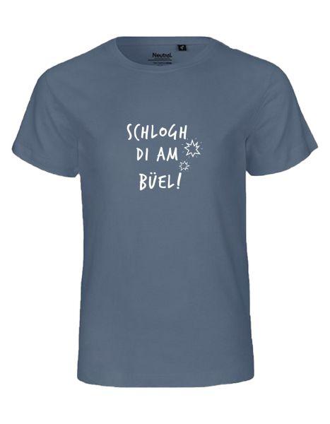 Schlogh di am Büel | T-Shirt KINDER | DUSTY INDIGO (blaugrau)