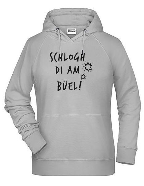 Schlogh di am Büel | Hoodie WOMAN | ASH (hellgrau)