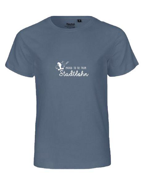 Proud to be from Stadtlohn | T-Shirt KINDER | DUSTY INDIGO (blaugrau)