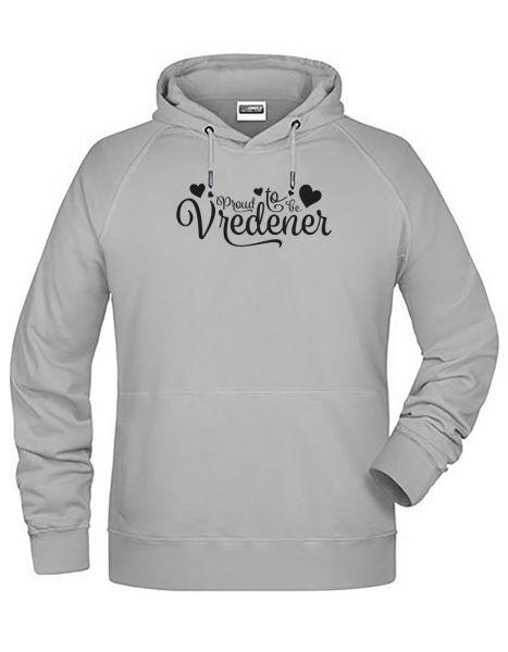 Proud to be Vredener | Hoodie MAN | ASH (hellgrau)